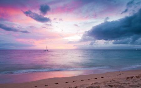 Заставки закат, небо, облака, берег