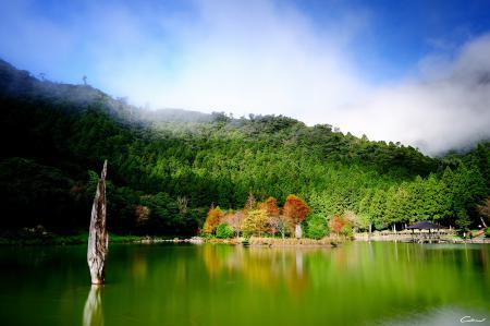 Заставки озеро, пруд, зелень, беседка