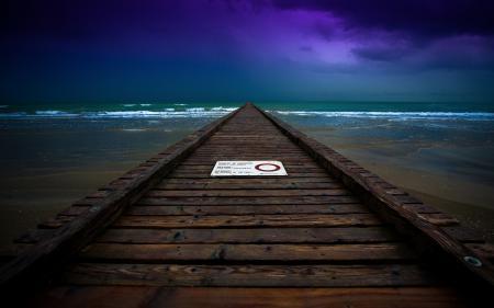 Фотографии море, ночь, мост, пейзаж