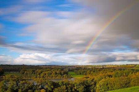 Фотографии Ирландия, осень, деревья, облака