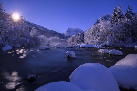 Фотографии Norway, Норвегия, зима, река