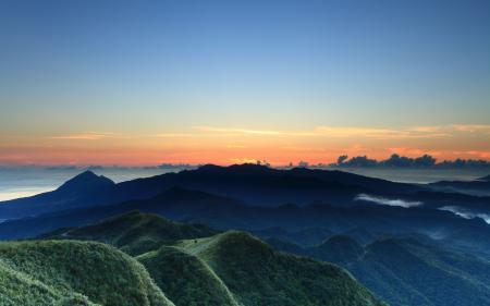 Картинки горы, небо, закат, пейзаж