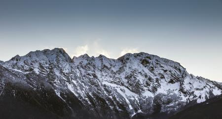Заставки горы, вершины, снег, деревья