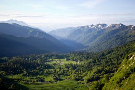 Заставки горы, лето, Адыгея, восход