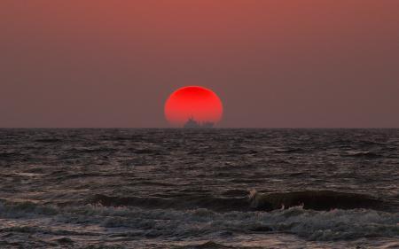 Картинки море, восход, волны, вода