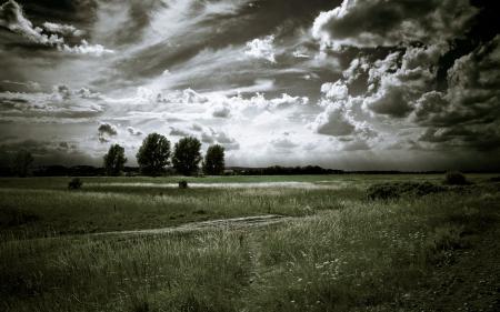 Заставки природа, пейзаж, поле, дорога