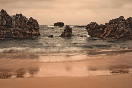 Картинки море, пляж, скалы