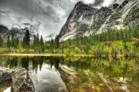 Фотографии гора, озеро, лес, серый