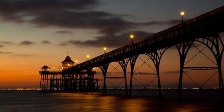 Фото закат, вечер, море, пирс