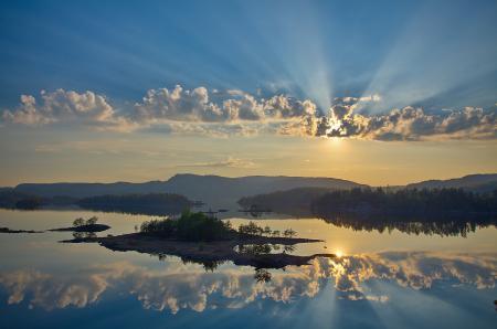 Заставки небо, облака, отражение, вода