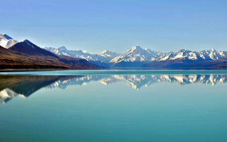 Заставки горы, небо, вода, отражение