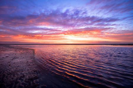 Фотографии вода, гладь, небо, закат