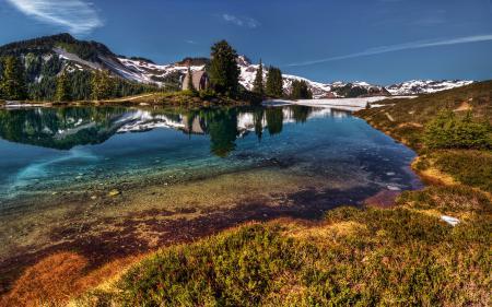 Фото пейзаж, природа, озеро, вода