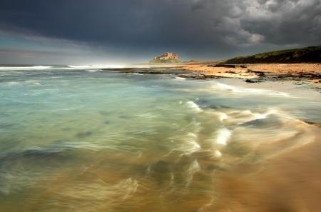 Фото замок, море, волны