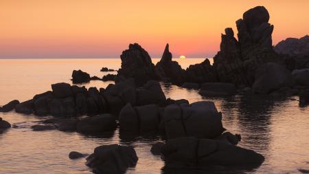 Обои Сардиния, море, морской пейзаж, скалы