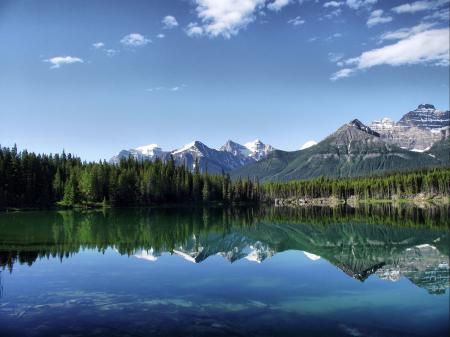 Обои Природа, пейзаж, горы, лес
