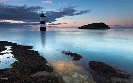 Заставки море, маяк, камни, скалы