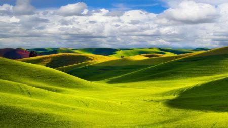 Картинки Пейзаж, природа, холмы, поля