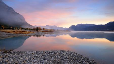 Фото Природа, пейзаж, утро, озеро