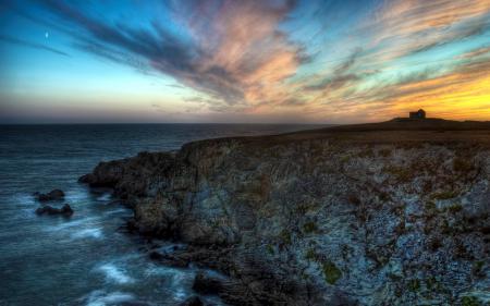 Фотографии закат, море, скалы, пейзаж