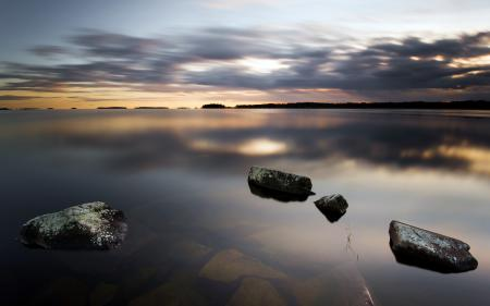 Заставки озеро, ночь, природа