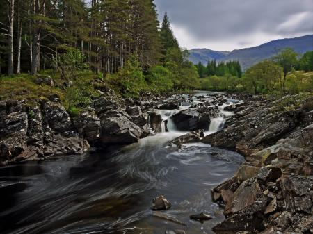 Обои River Orchy, Scotland, Шотландия, река