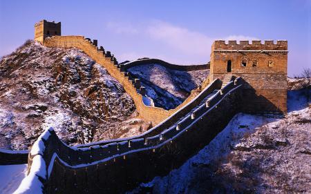 Картинки великая, китайская, стена, снег