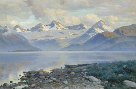 Фотографии Крыжицкий, Озеро в горах, картина
