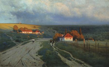 Заставки Крыжицкий, Вечер, картина