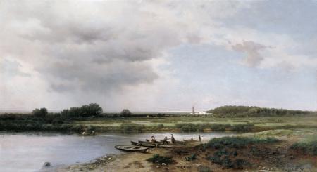Фото Каменев, Вид на реку Казанку, картина