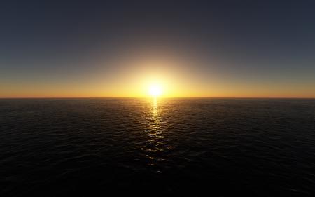 Картинки море, гладь, закат, The Last Sunset Over The Sea