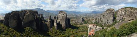 Фотографии Греция, горы, метеора, панорама