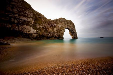 Заставки море, скала, арка, пляж