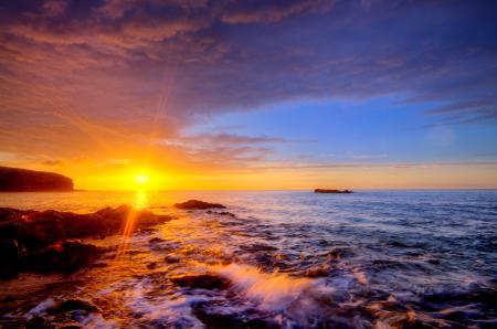 Фотографии море, солнце, берег, камни