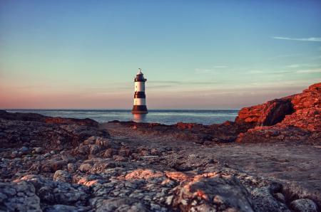 Обои камни, скалы, маяк, море