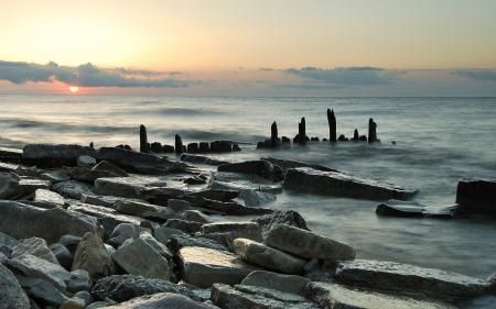 Фотографии море, камни, берег, побережье
