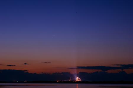 Картинки корабль, шаттл, Endeavour, планеты