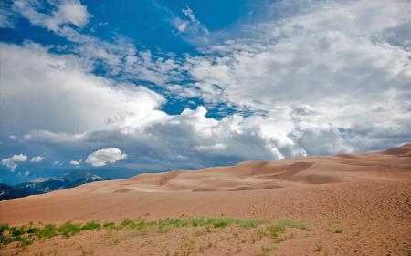 Фотографии пейзаж, песок, небо, горы