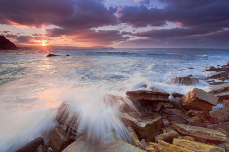 Фотографии море, скалы, камни, солнце