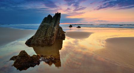 Картинки море, краски, заката, пляж