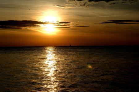 Фото Sunset, закат, солнце, море