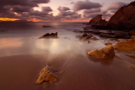 Фотографии небо, облака, пляж, камни