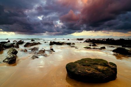 Фото небо, море, пляж, камни