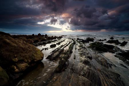Обои небо, облака, скалы, камни
