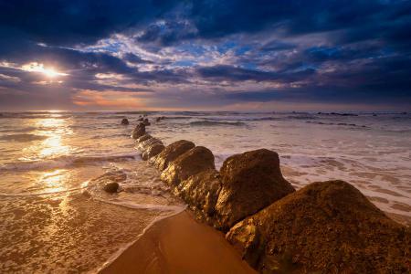 Фотографии море, пляж, небо, камни