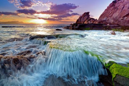 Фотографии скалы, камни, море, волны