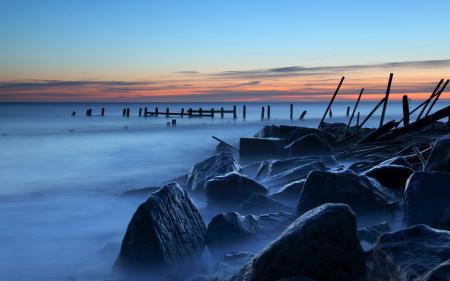 Заставки Англия, море, берег, камни