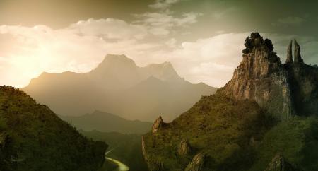 Картинки арт, erenarik, пейзаж, горы