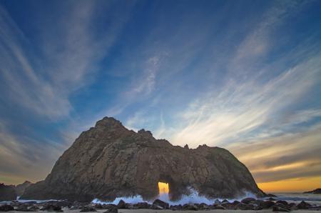 Картинки Морской пейзаж, море, скала, камни