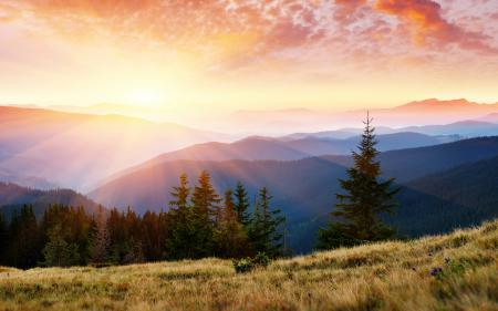 Картинки пейзажи, природа, небо, свет